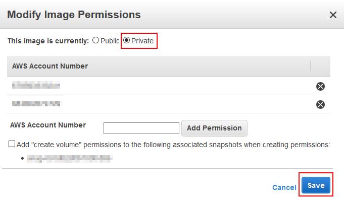 Private AMI Permission